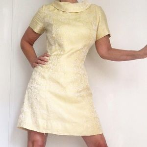 Vintage 60s JackieO Mod Brocade Dress